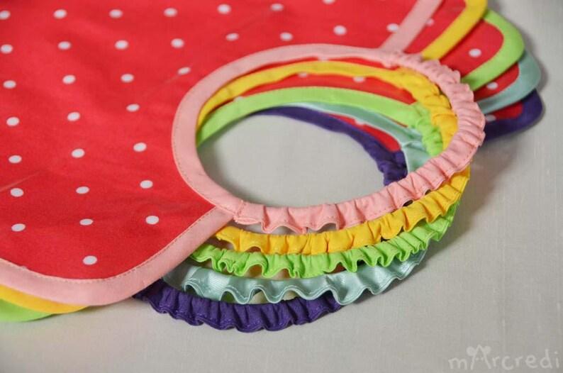 Large elastic coated cotton fuchsia polka dots and pink baby image 0