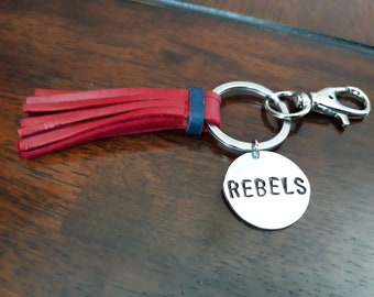 NCAA Ole Miss Rebels Lucite Keychain Oval