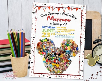 Disney Birthday Party Invitation Printable Kingdom