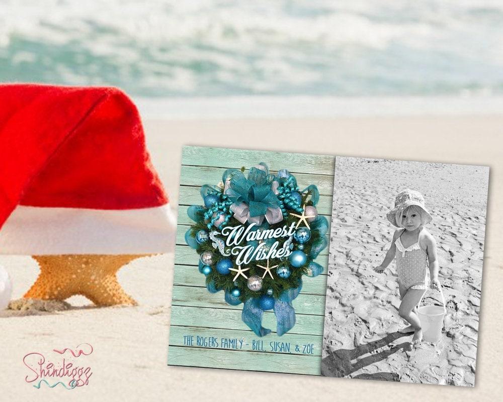 Tropical Christmas Greeting Card Holiday Greeting Card | Etsy