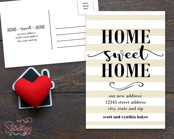 New Home Announcement Postcard Moving Announcement Card New Etsy