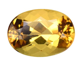 3.390CTS glorious luster golden yellow natural beryl (Heliodor) oval  loose gemstones