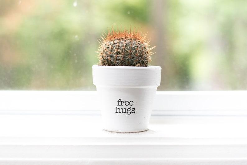Free Hugs  Plant Pot image 1