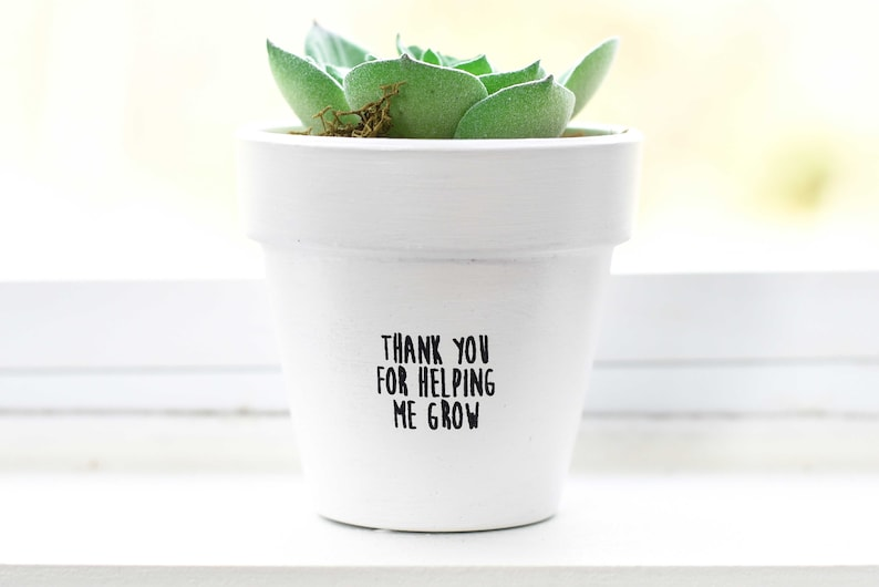 Thank You For Helping Me Grow  Plant Pot image 1