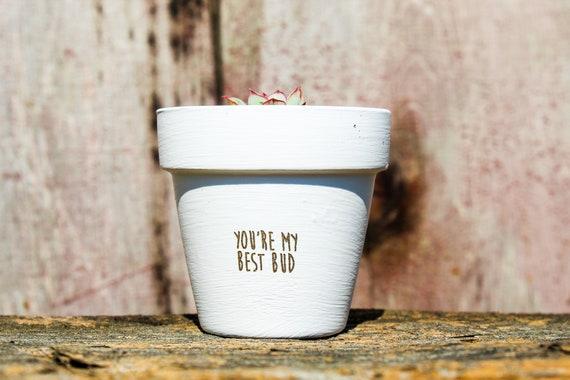 You're My Best Bud Succulent Pot