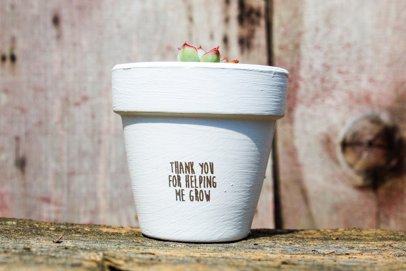 Thank You For Helping Me Grow Succulent Pot image 0