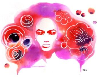Fashion Illustration, Limited Edition Art Print, Watercolor Art, Fashion Art Print, Watercolor Fashion