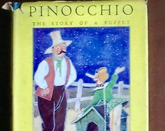 Vintage Pinocchio - The Story of A Puppet - by Carlo Collodi - 1938 1st Edition
