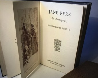 Vintage Jane Eyre - An Autobiography by Charlotte Bronte - 1933