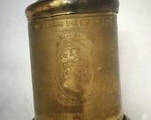 Vintage Queen Elizabeth II Coronation Brass Tea Caddy - 1953