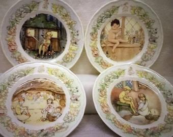 series Peter Pan 1968 Set of 3 plates KG Luneville