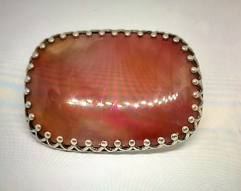Retro, Vintage 1930s-1980s Vintage & Antique Jewelry Vtg 800 Silver Real Carnelian Gemstone Arabic Pin Brooch