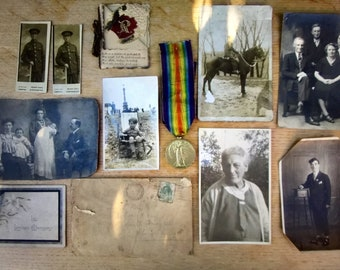 World War 1 Medal, Photo's and Paperwork - The Great War for Civilisation 1914 - 1919