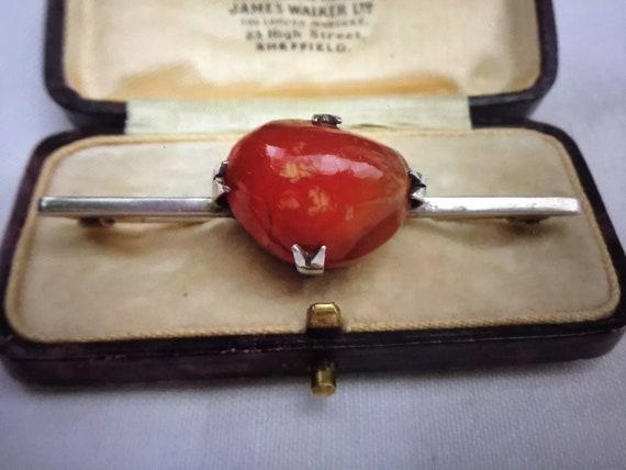 Antique Victorian Scottish Carnelian Agate Silver