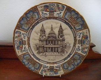 Vintage Masons Ironstone 1982 St Paul's Cathedral Christmas Plate