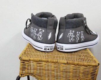 9af72760681f Dancing Bears printed on Chuck Taylor s mid-top