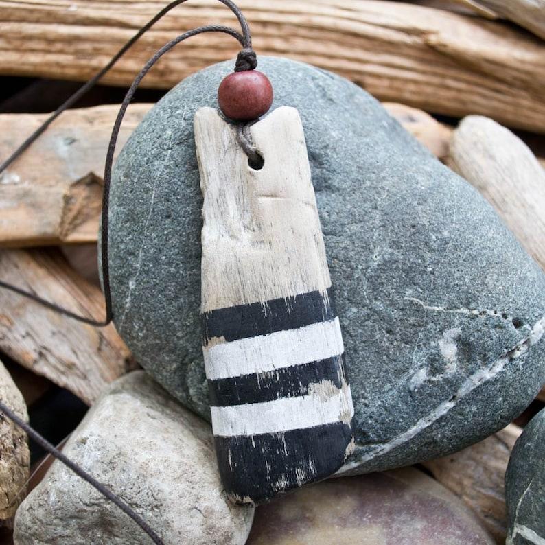 Driftwood pendant  necklace  Driftwood jewelry  wood bead  image 0
