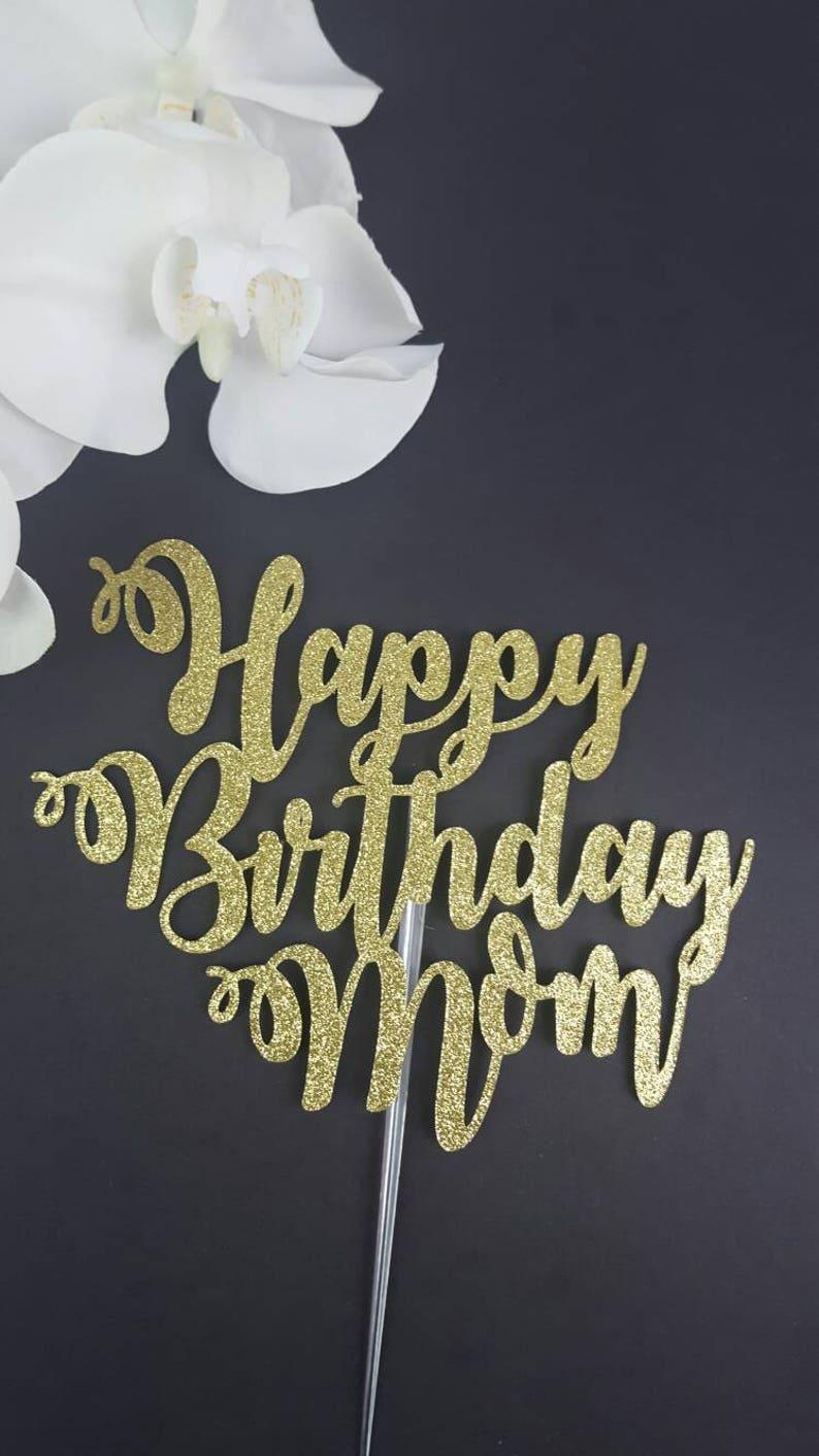 Joyeux Anniversaire Maman Gâteau Joyeux Anniversaire Maman De Gâteau Danniversaire Gâteau Personnalisé Nom De Gâteau Gâteau De