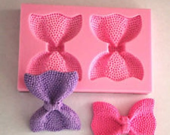 Silicone Bow Mold, Fondant Silicone Mold, 2 Piece Bow Mold, Cake Decorating, Chocolate Mold, Bow Mold