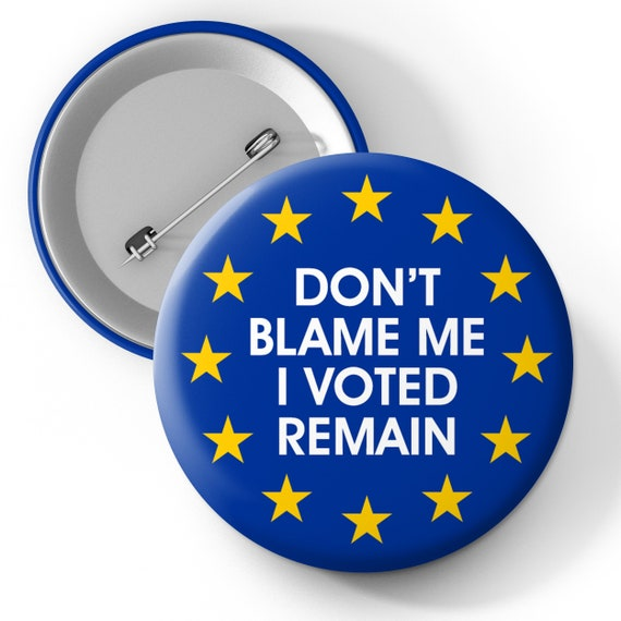 25mm Button Badge UK EU European Union Referendum I/'m Voting Leave Europe