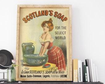 Scotlands Soap 1893 by Jean de Paleologue Vintage UK Advertising Poster Art Print