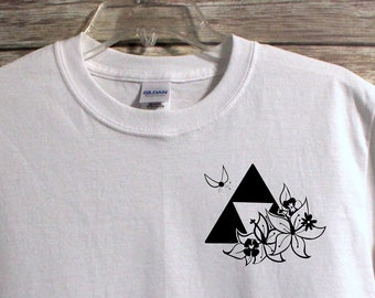 c39c443c6 Legend of Zelda Inspired Shirt | Link | Triforce | Unisex Shirt | Quote  Shirt | Flowers | Womens Graphic Tees | Mens Graphic Tees