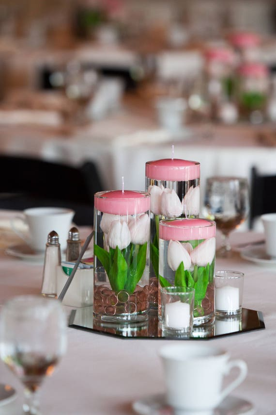 Submersible Light Pink And White Floral Wedding Centerpieces Etsy