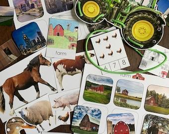 Montessori Farm Expansion Pack Printables