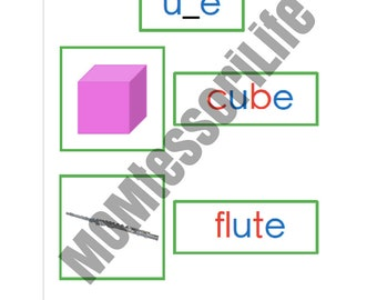 Printable Montessori Green Series Photo and Word Cards + Word Lists in Montessori Colors