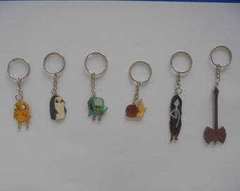 Adventure Time BMO, Jake, Marceline, Gunter, Snail   Keychains