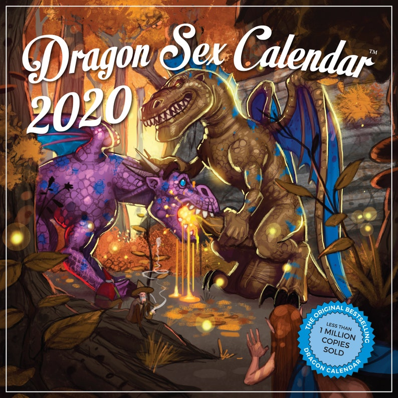 2020 Dragon Sex Wall Calendar White Elephant Gift Humorous