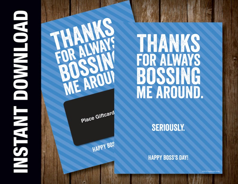 photograph regarding Happy Boss's Day Cards Printable identify PRINTABLE Bosss Working day Present Card Holder -- Nationwide Manager Working day Card -- Owing for Often Bossing Me Near -- 5 x 7 Electronic Down load