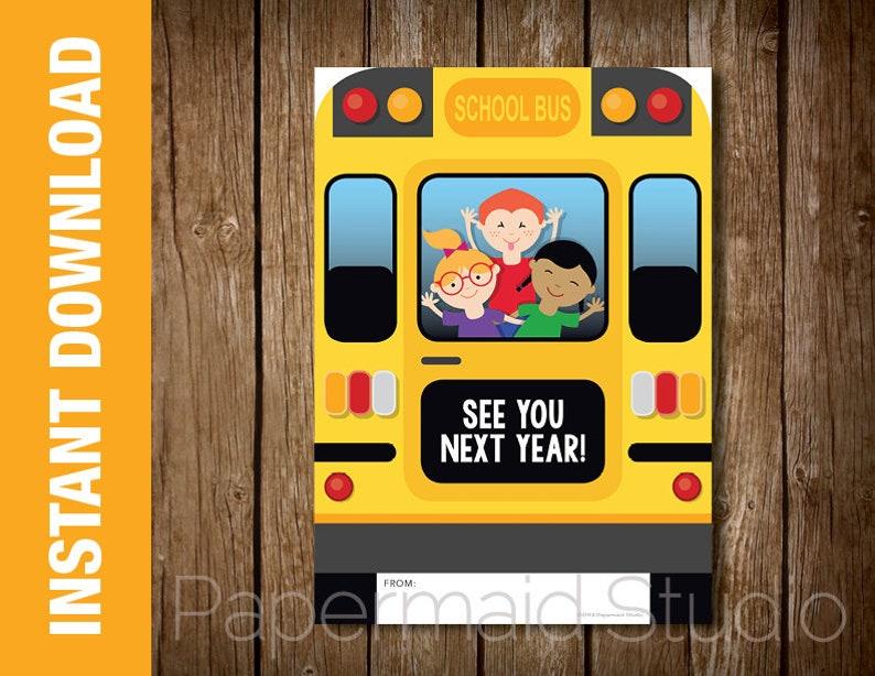 image regarding Bus Driver Thank You Card Printable identify PRINTABLE Bus Driver Thank Your self Card - Printable Bus Driver Reward Card Holder -- Bus Driver Appreciation -- University Bus Card - Close of Yr Bus