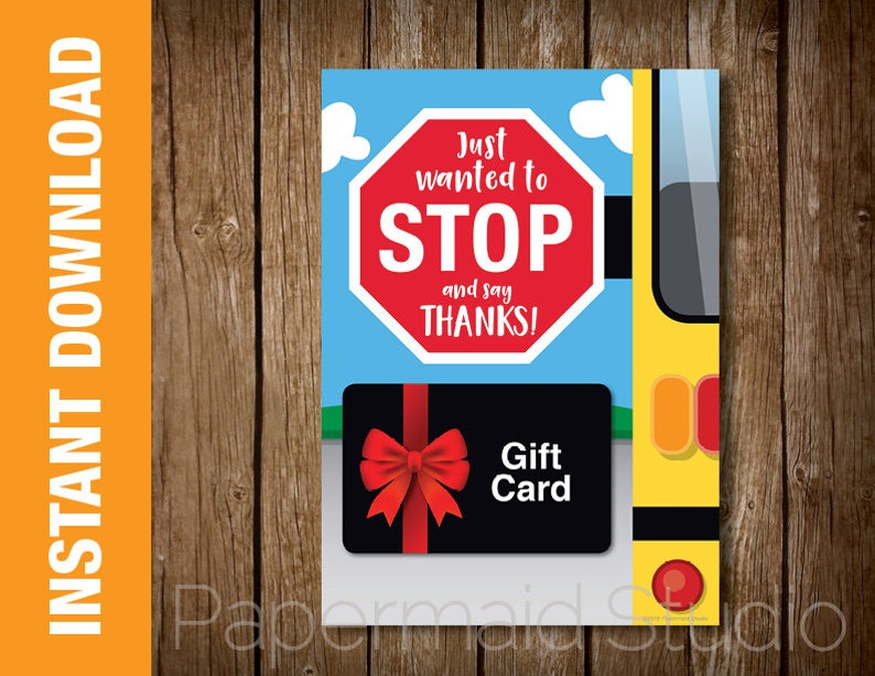 picture regarding Bus Driver Thank You Card Printable named Bus Driver Thank Yourself Card Printable Bus Driver Present Card Holder - Bus Driver Appreciation - Faculty Bus Card - Finish of 12 months Bus