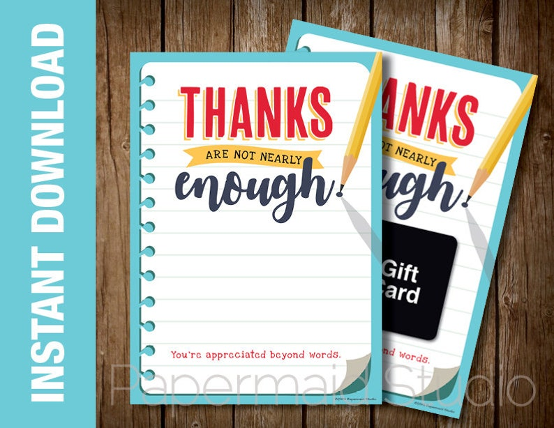 Digital Flat Thank You Note 5x7 Printable File Paris themed Thank you Card INSTANT DOWNLOAD