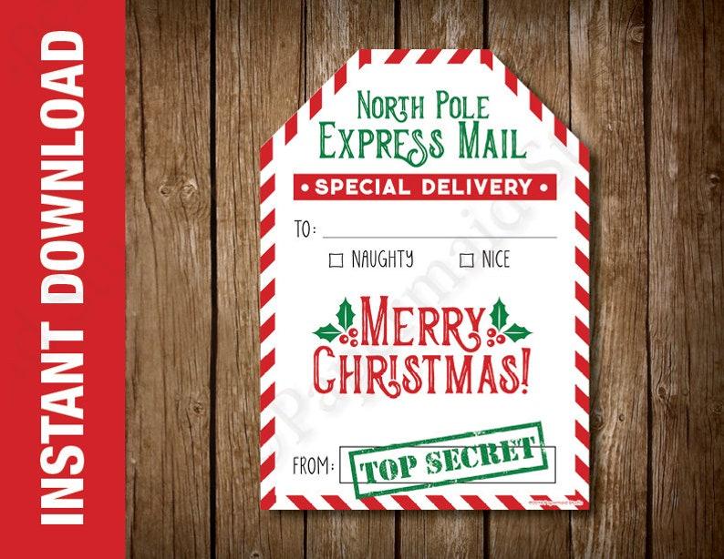 graphic regarding Secret Santa Cards Printable known as PRINTABLE Mystery Santa Present Card Holder -- Xmas Present Card Holder -- Instructor Getaway Card