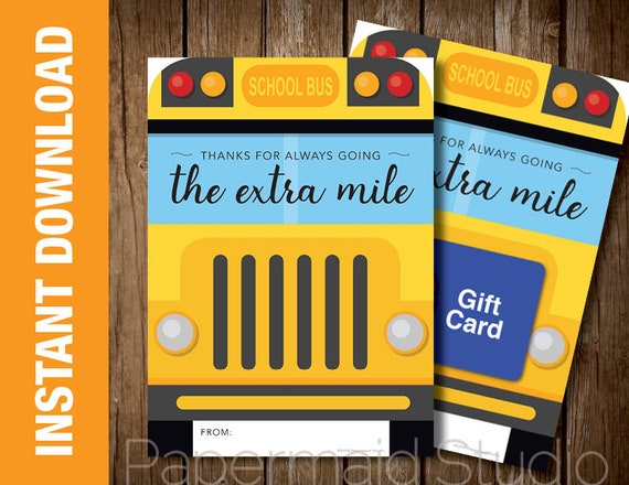 photo regarding Bus Driver Thank You Card Printable named PRINTABLE Bus Driver Thank On your own Card - Printable Bus Driver Reward Card Holder - Bus Driver Appreciation - College or university Bus Card - Conclusion of Calendar year Bus