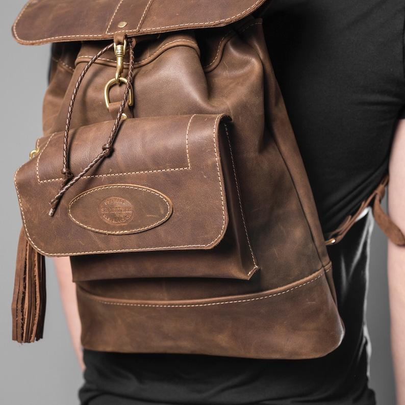 Handmade Genuine Leather Backpack