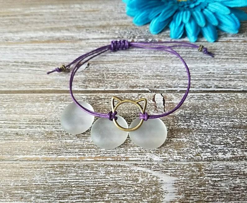 Head Cat Lover Gift Macrame Animal Lover Gift Adjustable Cat Lover Bracelet Cat Mom Bracelet Cat String Bracelet Cat Bracelet