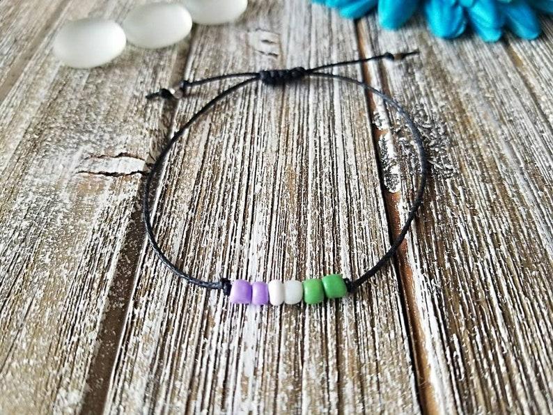 String Bracelet Macrame Bracelet Pride Bracelet Genderqueer Bracelet Minimalist Bracelet Genderqueer Genderqueer Pride Bracelet