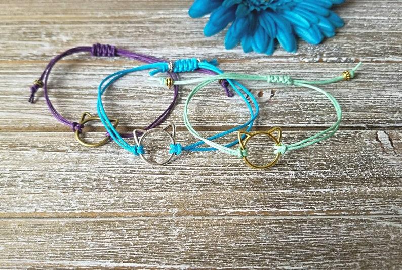 Bracelet Bracelet Clearance Macrame Cat Bracelet Unicorn Bracelet Jewelry Paw Print Bracelet
