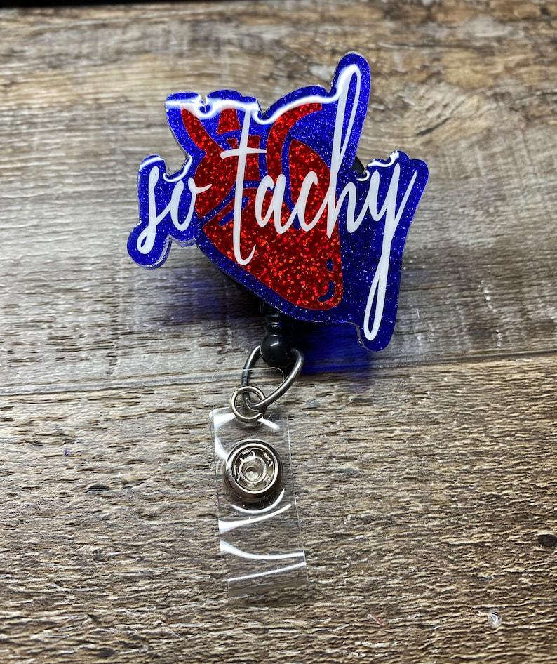 Heart Badge Reel So Tachy nurse interchangeable anatomical heart