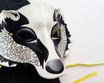 Leather Badger Mask - Made to Order