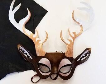 Leather Elk Mask - Made to Order