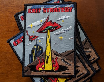 Exit Strategy UFO patch - Iron on -