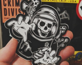 Space Ghoul stickers (2 pack)