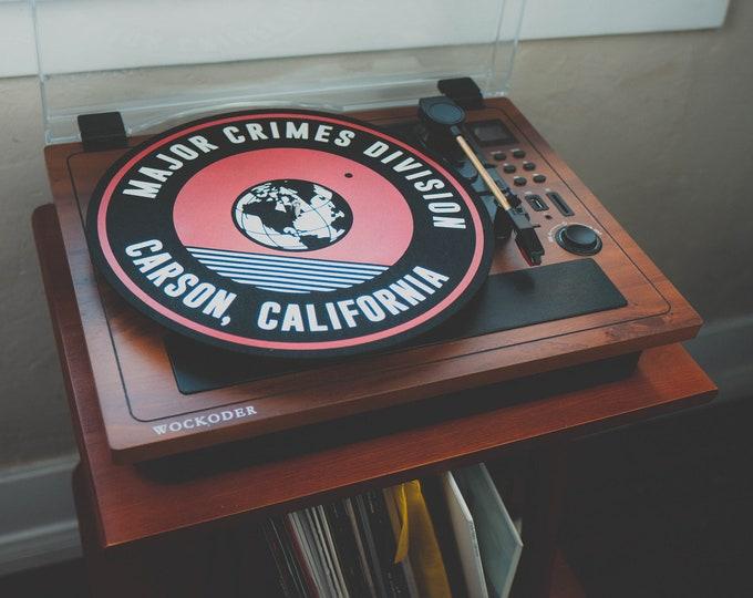 Featured listing image: Major Crimes Division LP slip mat logo