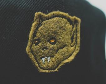 B Movie Monster // hand cut cap