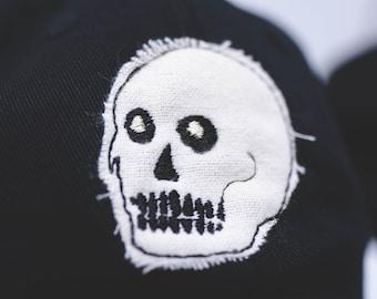 Cloth Skull // hand cut cap