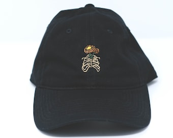 Rib cage flower pot dad hat (+ free shop sticker)